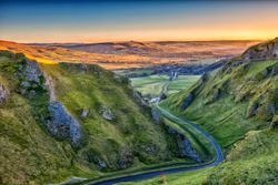 Sunrise at Winnats pass
