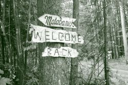 The sign at the entrance on Matabanick Road