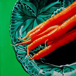 Carrots on Majolica