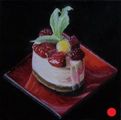 Gooseberry on Cheesecake