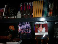 My books on the shelf at the Boutique Du Vampire in the French Quarter