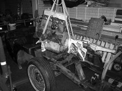 MG TD XPAG engine taken out