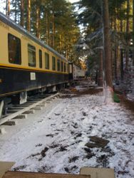 Orient Express train (view from the set)