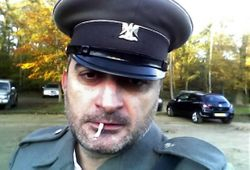 MIhai Arsene as Serbian Police Officer (break on set)