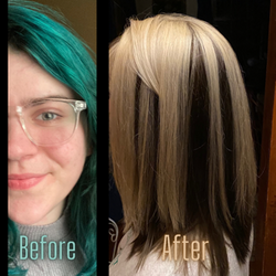 Before Teal After Color Blocking