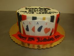 8 inch ace cake $90