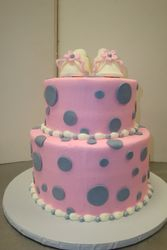 25 serving with fondant booties $125