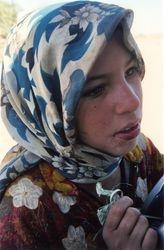 Nomad Girl With Palm Leaf Camel
