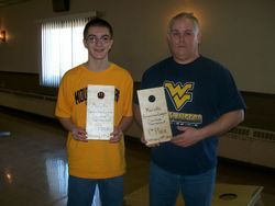 1st place doubles - Seth Cottrill and Dennis Cottrill  (Feb. 19, 2011)