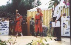 Arjarn Danny & Kru Jay - Ngaaw weapon demonstration Thai Food Festival 98