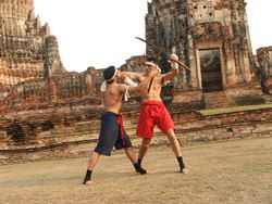 ELBOW DEFENCE AGAINST SWORD ATTACK