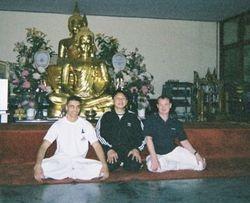 Master Danny, GMKrin n Master Tom at Wat Yarn