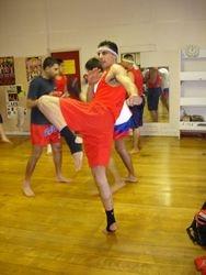 Master Danny demonstrating Kao Chiang - Diagonal Knee