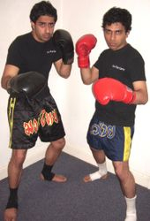 University College London Thai Martial Arts Society Presidents - Kru Bhavin & Pardeep