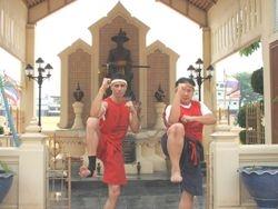 Master Danny with GrandMaster Krin at the General Taksin Shrine
