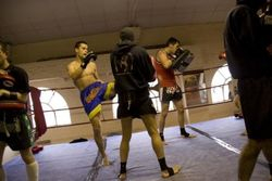 Bartosz pads fight preparation 4