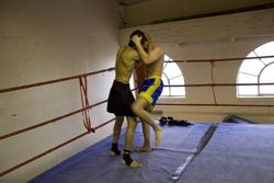 Depesh n Bartosz Muay Plahm fight preparation 1