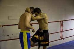 Depesh n Bartosz Muay Plahm fight preparation 5