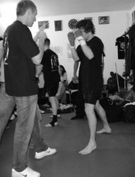 Anthony warm up with brother/cornerman Jamie  2