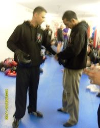 Preparing to warm up fighters