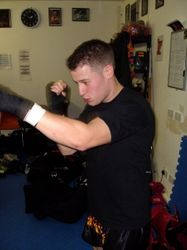 Rob shadow boxing