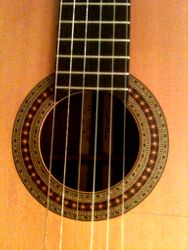 Classical soundhole and rosette