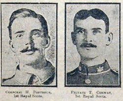 Cpl H Porteous and Pte T Conway
