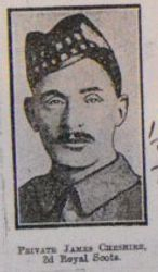 Pte James Cheshire (second photo)