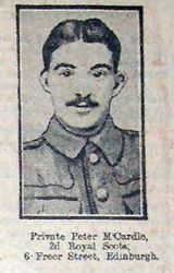 Pte Peter McCardle