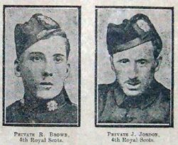 Pte R Brown and Pte J Jordon