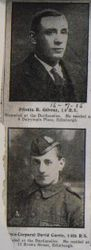 Pte R Gilvray and L Cpl David Currie