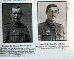 Private John Dickson Brindle and Sgt P F Monteith