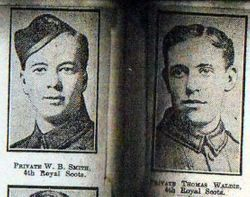 Pte W B Smith and Pte Thomas Waldie