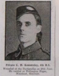 Pte C H Kennersley