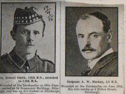 Pte Robert Smith and Sgt A W Mackay