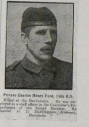 Pte Charles Henry Ford