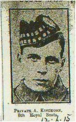 Pte A Kinghorn 8th RS