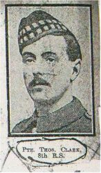 Pte Thomas Clark 8th RS