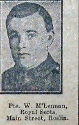 Pte W McLennan 8th RS