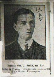 Pte William J Smith 8th RS