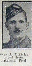 Sgt A McKinlay 8th RS