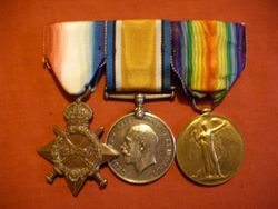 1915 Star, BWM, Victory Medal front