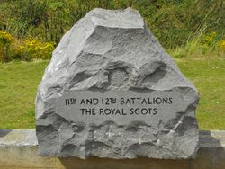 11th and 12th Royal Scots stone