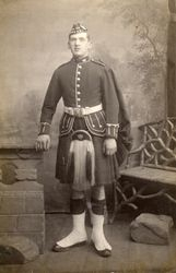 Robert Melvin Forbes 9th Royal Scots . Taken Patersons  31 Gt Junction St Leith