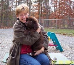 Nutmeg with her mommy Carolyn