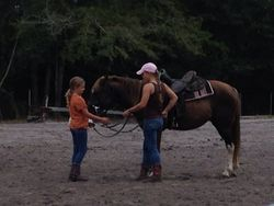 Dolly is a favorite among the young'uns around the barn, and she has started training to become a lesson horse.