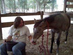 Corey bonding with Izzy.