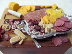 Meat and Cheese Prep on a Butcher Block Table