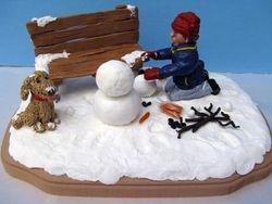 Travis Building a Snowman