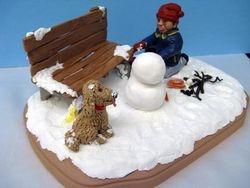 Travis Building a Snowman 2